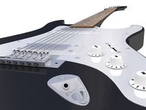 Guitar black, close Royalty Free Stock Image