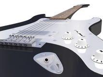Guitar black, close. Near picture electro- guitars black Royalty Free Stock Image