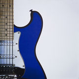 Guitar. Blue guitar - rock - blues - awesome Royalty Free Stock Images