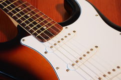 Guitar body. Close-up on a guitar body Royalty Free Stock Photography