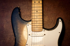 Guitar body and neck  detail Royalty Free Stock Image