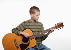 Guitar boy Royalty Free Stock Photos