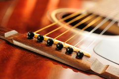 Guitar bridge Royalty Free Stock Photos