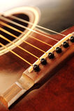Guitar bridge Royalty Free Stock Photography