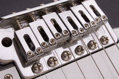 Guitar bridge Royalty Free Stock Image