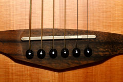 Guitar bridge Royalty Free Stock Image