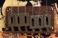 Guitar bridge Royalty Free Stock Photo
