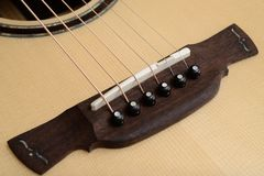 Guitar Bridge, Saddle and Pin Stock Photography