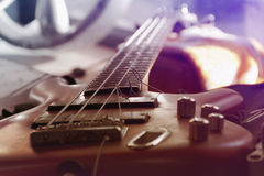 Guitar with broken string Stock Images