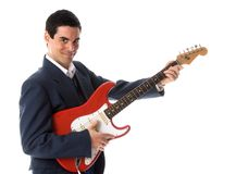 Guitar businessman Stock Photos