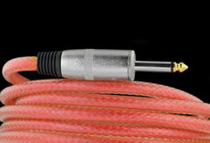 Guitar cable Stock Photo