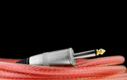 Guitar cable Royalty Free Stock Images