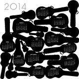 2014 Guitar Calendar Royalty Free Stock Photos