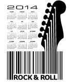2014 Guitar Calendar. 2014 Creative Guitar Calendar for Print or Web royalty free illustration