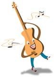 Guitar cartoon royalty free illustration
