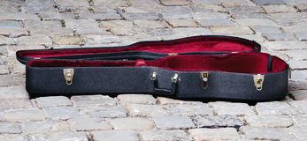 Guitar case Stock Image