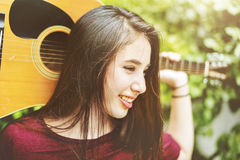 Guitar Casual Cheerful Chilling Music Instrument Concept Stock Images