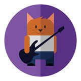 Guitar cat. Royalty Free Stock Images