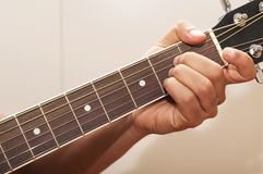 Guitar chord A. The chord A on an a guitar Royalty Free Stock Image