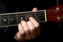 Guitar chord Royalty Free Stock Photography