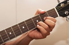 Guitar chord D Royalty Free Stock Photo
