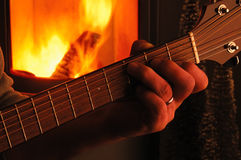 Guitar Chord In Front Of A Kiln Stock Images