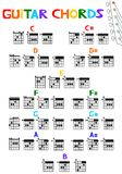 Guitar Chords. An illustration of guitar chords Stock Photography