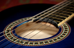 Guitar. Chords of a guitar in close mode Royalty Free Stock Photo
