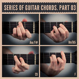 Guitar chords Stock Images