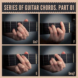 Guitar chords Stock Image