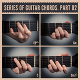 Guitar chords Stock Photography