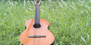 Guitar Classical on the Grass Royalty Free Stock Photos