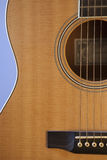 Guitar Close Up. A close up of a well hand crafted guitar body Royalty Free Stock Photo