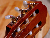 Guitar close-up in very good light Royalty Free Stock Photography