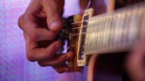 Guitar closeup stock footage