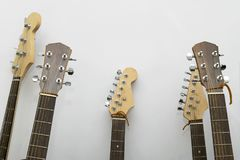 Guitar closeup in the studio royalty free stock photography