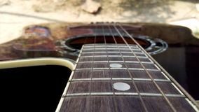 Guitar. Closeview of a guitar Royalty Free Stock Photo