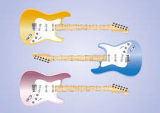 Guitar collection Stock Image