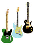 Guitar Collection Royalty Free Stock Photos