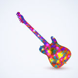 Guitar, color design Royalty Free Stock Image