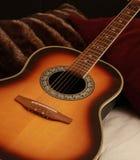 Guitar Comfort. Image of a guitar in studio Stock Image