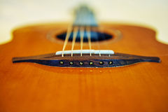 Guitar. Components of the acoustic guitar Royalty Free Stock Photography