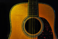 Guitar. Components of the acoustic guitar Stock Photos