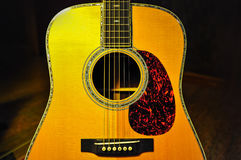 Guitar. Components of the acoustic guitar Royalty Free Stock Photos
