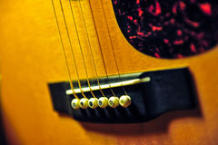 Guitar. Components of the acoustic guitar Royalty Free Stock Images