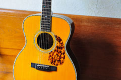 Guitar. Components of the acoustic guitar Royalty Free Stock Image