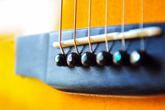 Guitar. Components of the acoustic guitar Stock Photo
