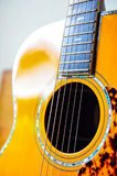 Guitar. Components of the acoustic guitar Stock Image