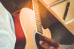 Guitar composion Royalty Free Stock Photography