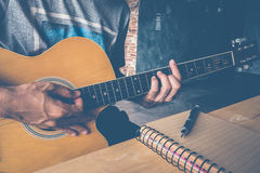 Guitar composion Royalty Free Stock Image